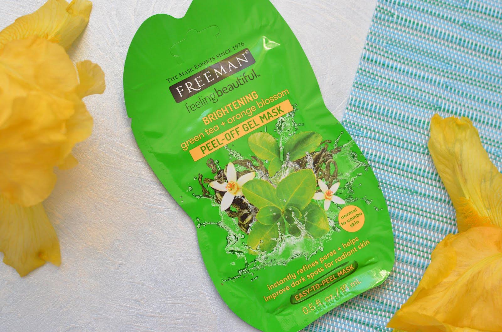 """Freeman Feeling Beautiful Mask Маска-пленка для лица """"Зеленый чай и апельсиновый цвет"""""""