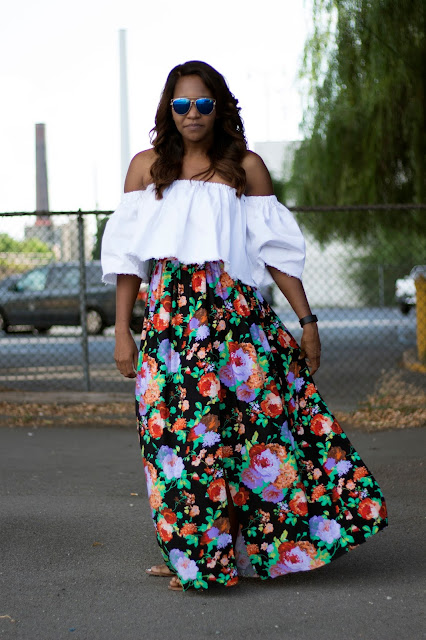 PYT Top Tutorial  - Off Shoulder Top and High Split Skirt