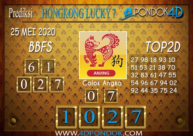 Prediksi Togel HONGKONG LUCKY 7 PONDOK4D 25 MEI 2020