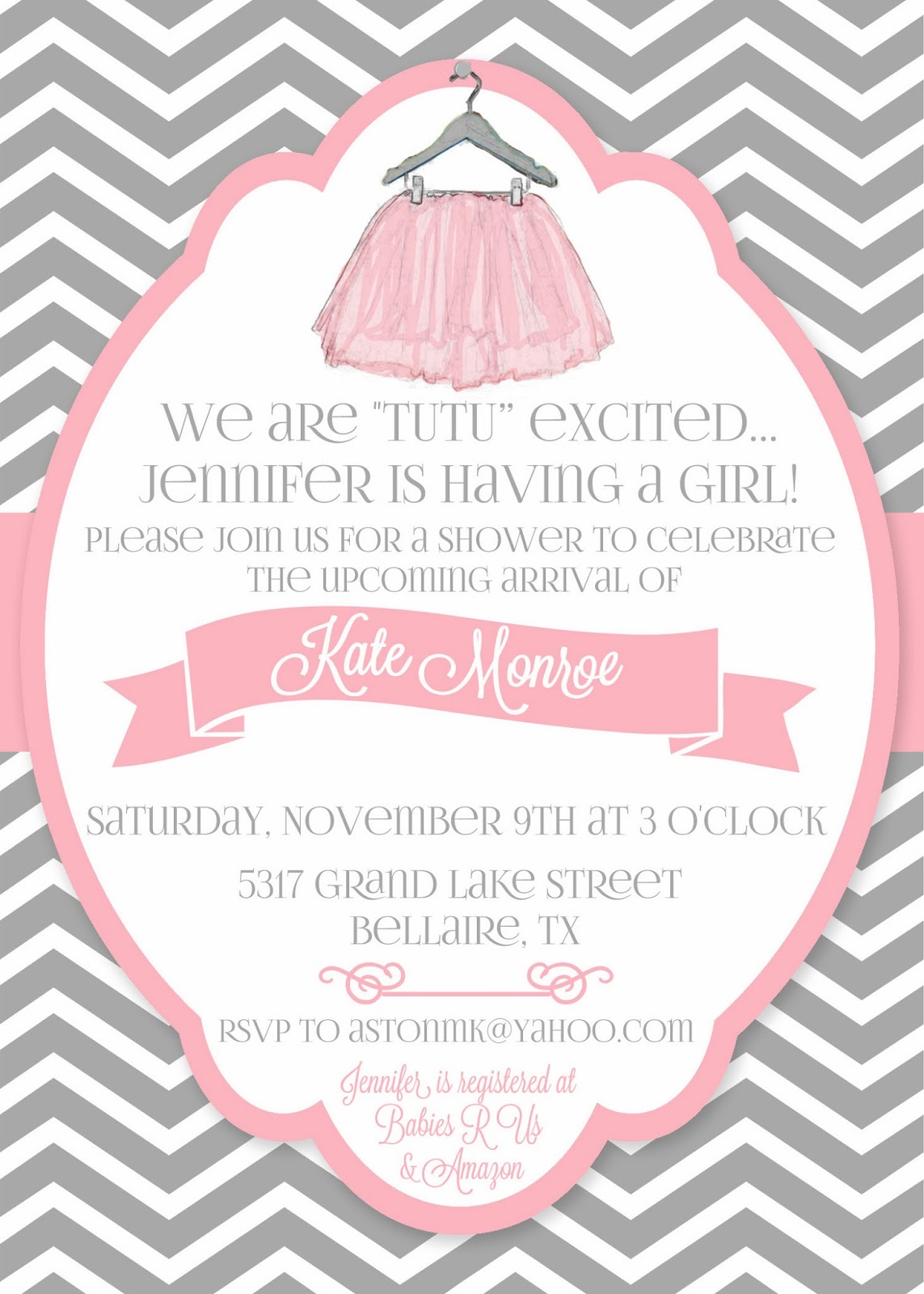 Daily Dimples Quot Tutu Quot Cute Baby Shower