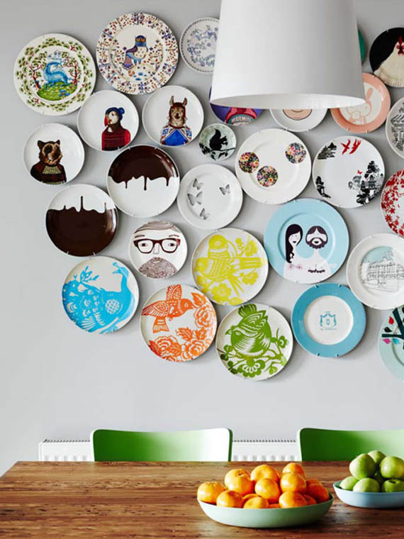 wall decor, gallery art, hipster style illustrated plates