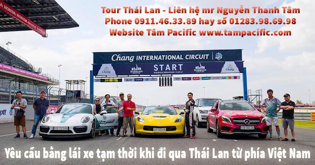 Yêu cầu bằng lái xe tạm thời khi đi qua Thái Lan từ phía Việt Nam