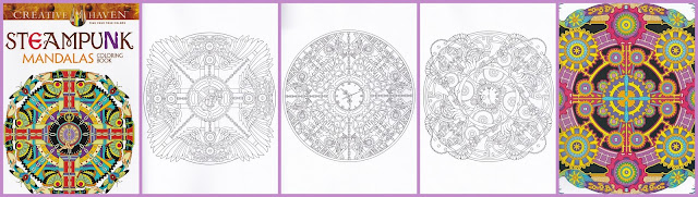 kleurboeken voor volwassenen,  kleurboek steampunk mandalas