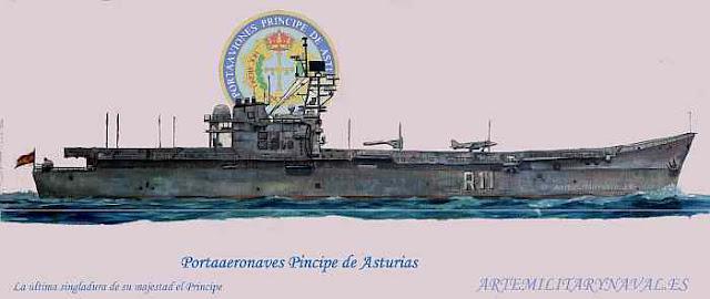 oleo del portaaviones Principe de Asturias