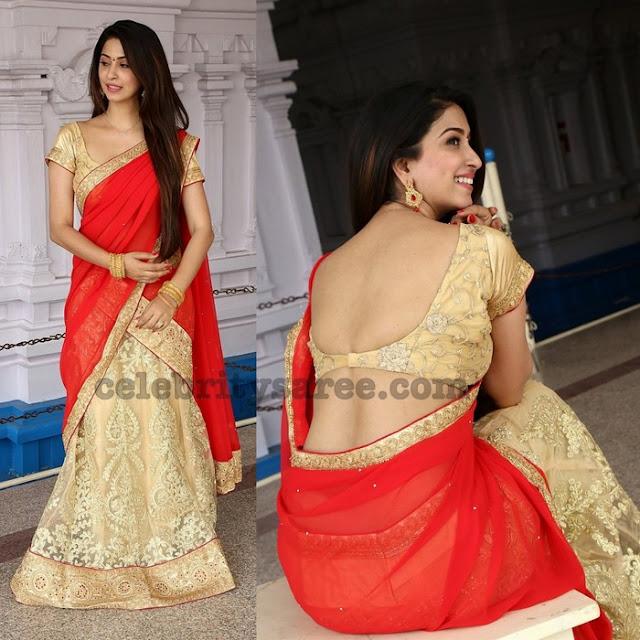 Eeshanya Mahesh Half Saree