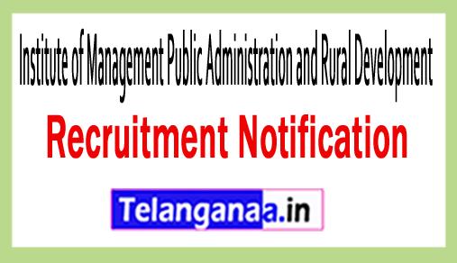 Institute of Management Public Administration and Rural Development IMPA / RD Recruitment