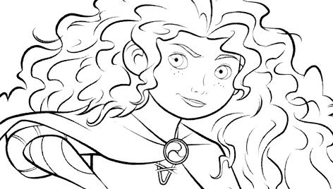 Princesas Disney Dibujos Para Colorear De Brave