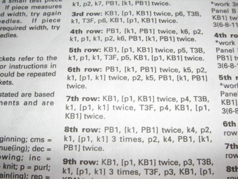 6175f6bbb Knitting Galore  How to Read a pattern