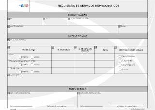 FORMULÁRIO DE REQUISIÇÃO DE SERVIÇOS REPROGRÁFICOS