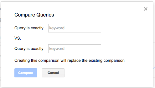 Google Search Analytics Compare Queries