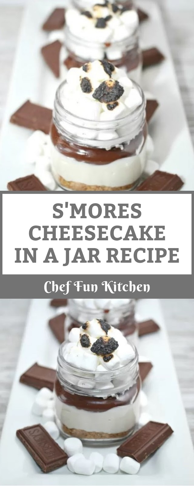 S'MORES CHEESECAKE IN A JAR RECIPE