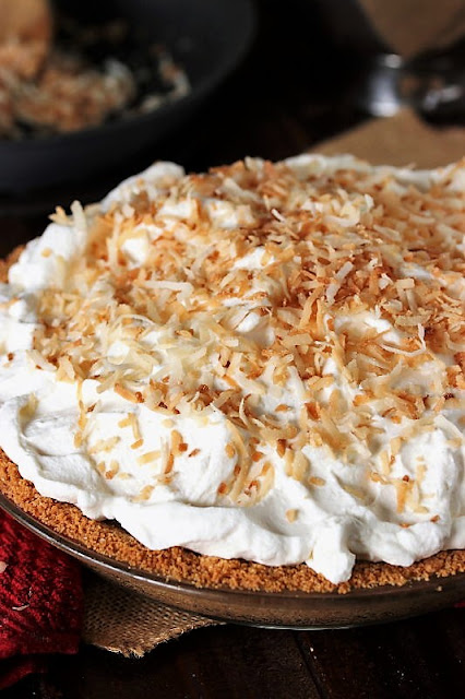 Coconut Cream Pie Topped with Toasted Coconut Image