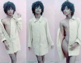 A boy dressed like a girl