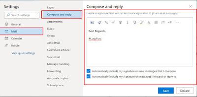 Signature webmail