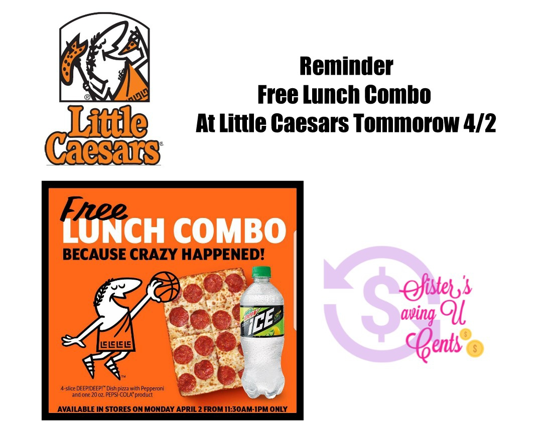 picture relating to Little Caesars Printable Coupons titled No cost Lunch Tomorrow At Tiny Caesars!!!