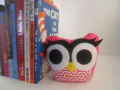 owl bookend, rice filled