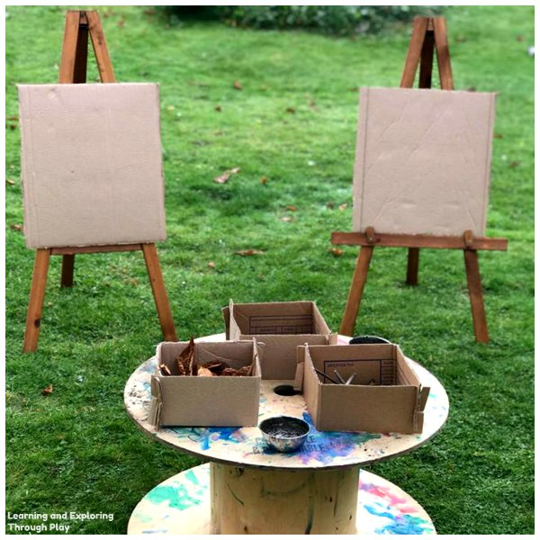 Outdoor Mark Making Easels