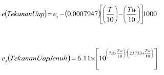 Rumus menghitung kelembapan relatif