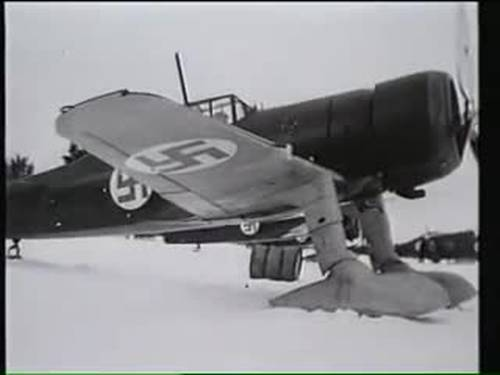 6 January 1940 worldwartwo.filminspector.com Finnish Fokker D.XXI fighter