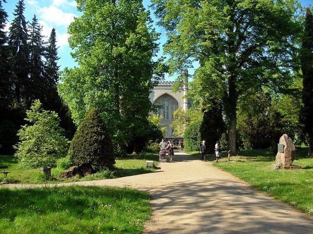 arboretum, park, pałac, ścieżka