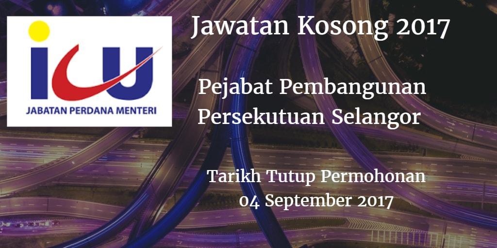 Jawatan Kosong Pejabat Pembangunan Persekutuan Selangor 04 September 2017