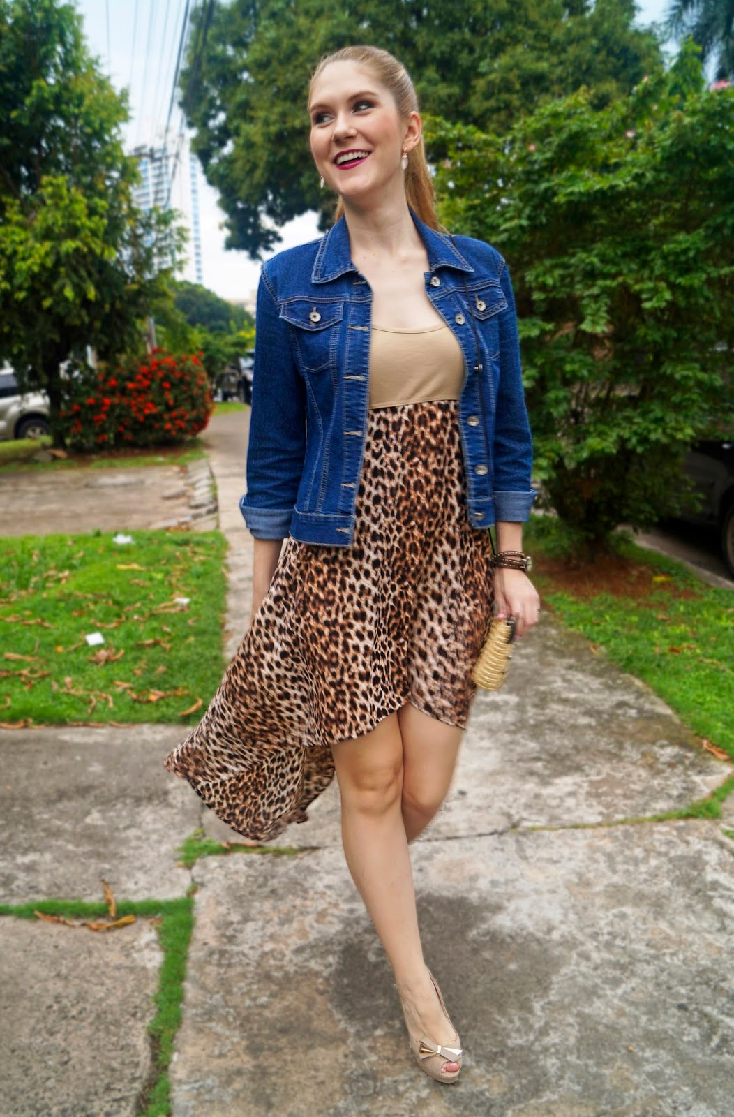 What to Wear with a Leopard Dress