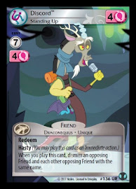 My Little Pony Discord, Standing Up Defenders of Equestria CCG Card
