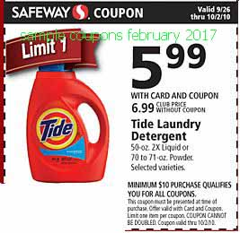 Tide coupons february 2017