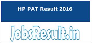 HP PAT Result 2016