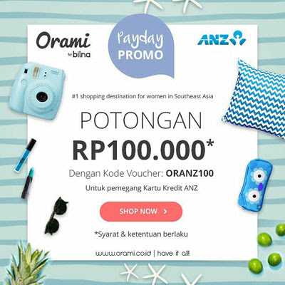ANZ Payday Promo – Orami
