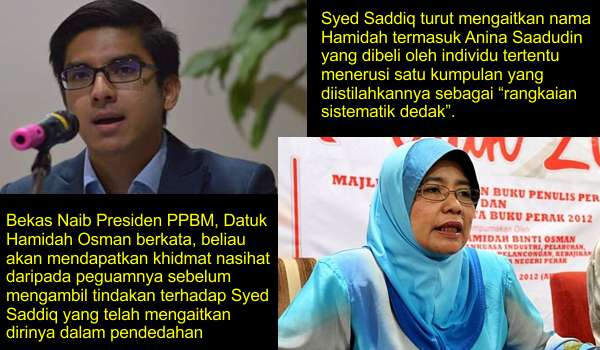 Sogokan RM5j: Hamidah Cabar Syed Saddiq Dedahkan Bukti