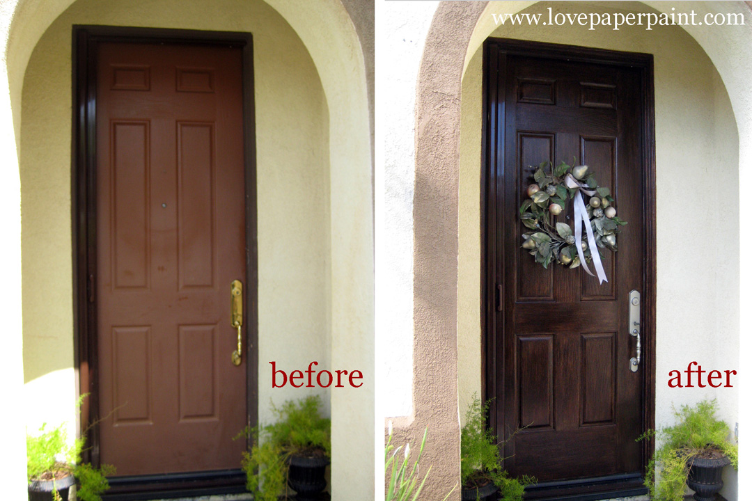 Faux Wood Doors | Love Paper Paint