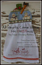 All Hearts Come Home for Christmas Stitchery Tea Towel E-Pattern