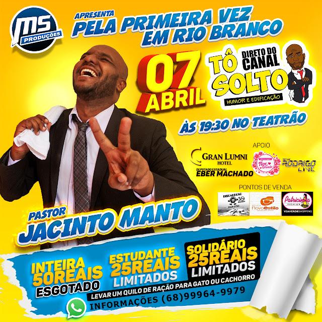VINI RODRIGUES, DO CANAL TÔ SOLTO, APRESENTA STAND UP GOSPEL INÉDITO EM RIO BRANCO-ACRE