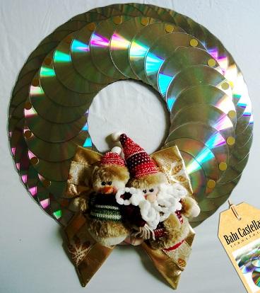 Enfeites para o natal com CDs 15