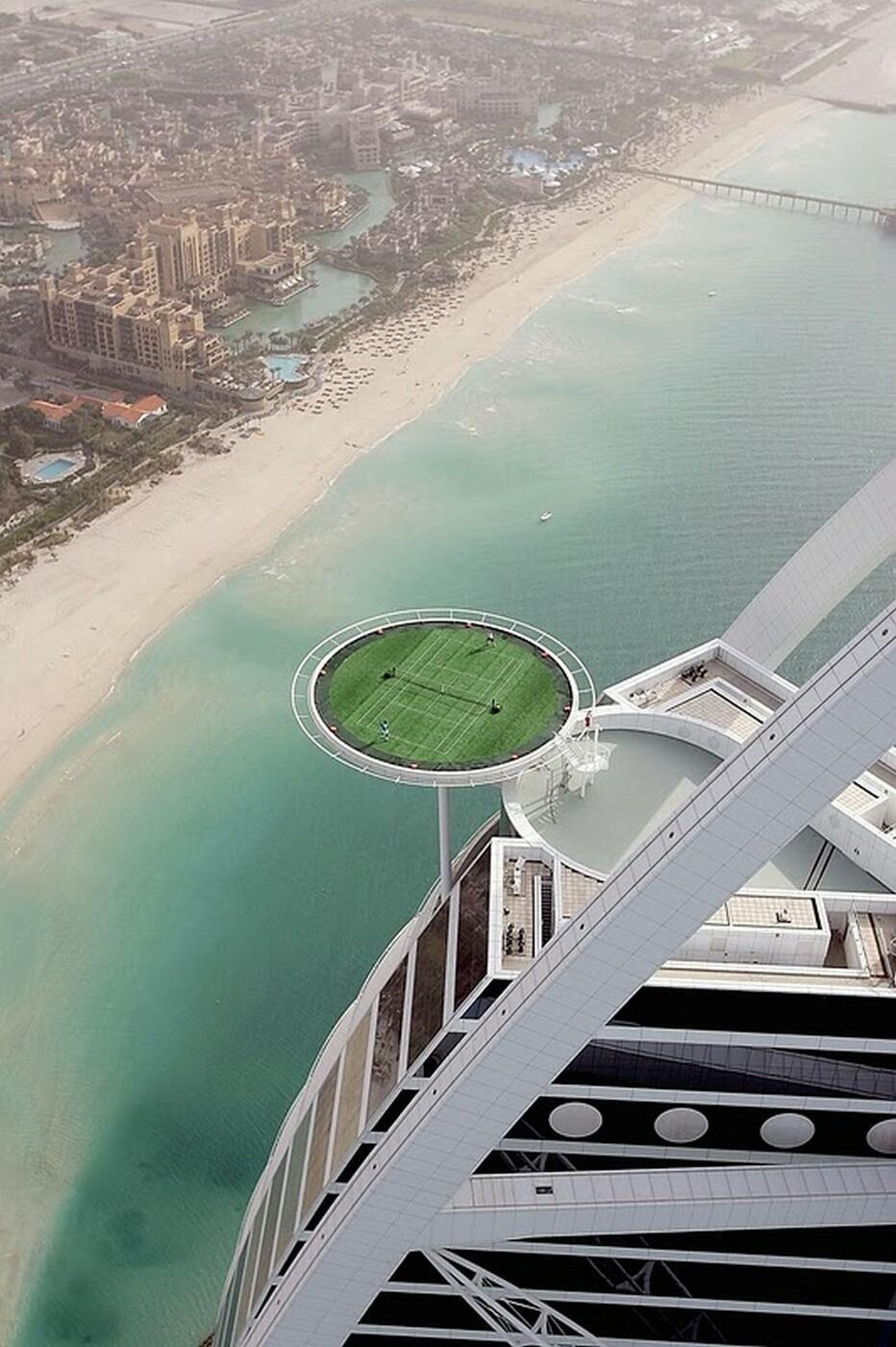 World S Highest Tennis Court At Burj Al Arab Bonjourlife