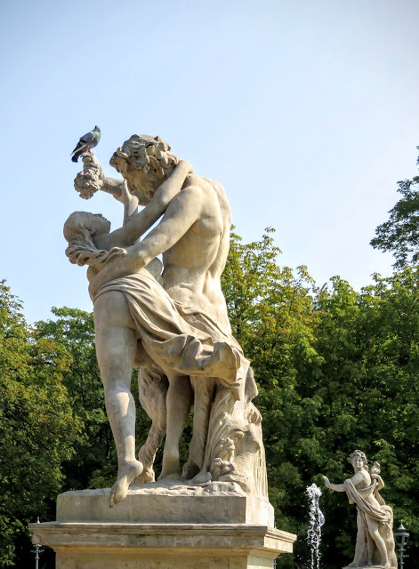 Sculptures in Łazienki Park in Warsaw, Poland