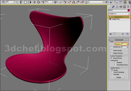 modeling a chair with 3ds max