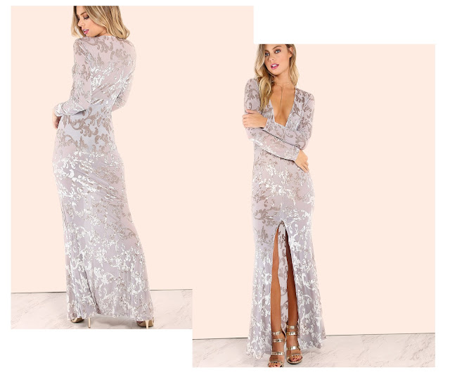 http://www.shein.com/Grey-Vine-Pattern-Deep-V-Neck-Slit-Front-Sheer-Dress-p-316467-cat-1727.html?utm_source=unconventionalsecrets.blogspot.it&utm_medium=blogger&url_from=unconventionalsecrets