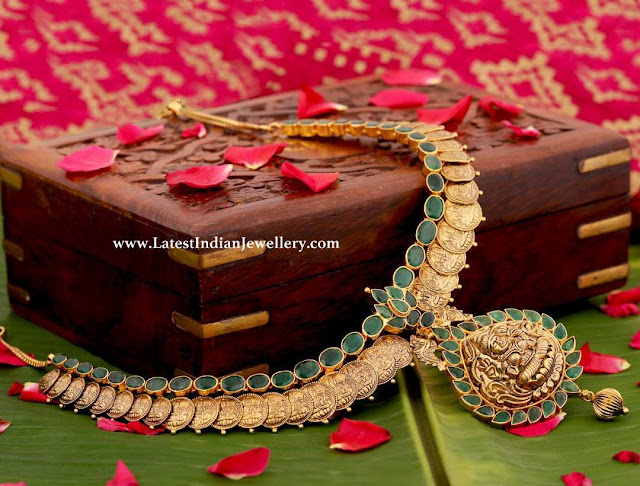 Simple Emerald Kasu Necklace