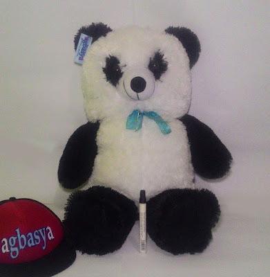 Boneka Beruang Teddy Bear XL Hitam Putih