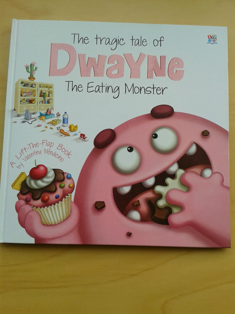 Review:  The Tragic Tale of Dwayne The Eating Monster – A Lift-The-Flap Book By Valentina Mendicino