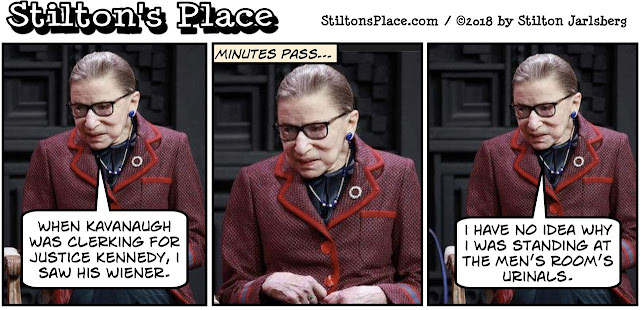 stilton's place, stilton, political, humor, conservative, cartoons, jokes, hope n' change, ginsburg, kavanaugh, penis, stormy daniels, media