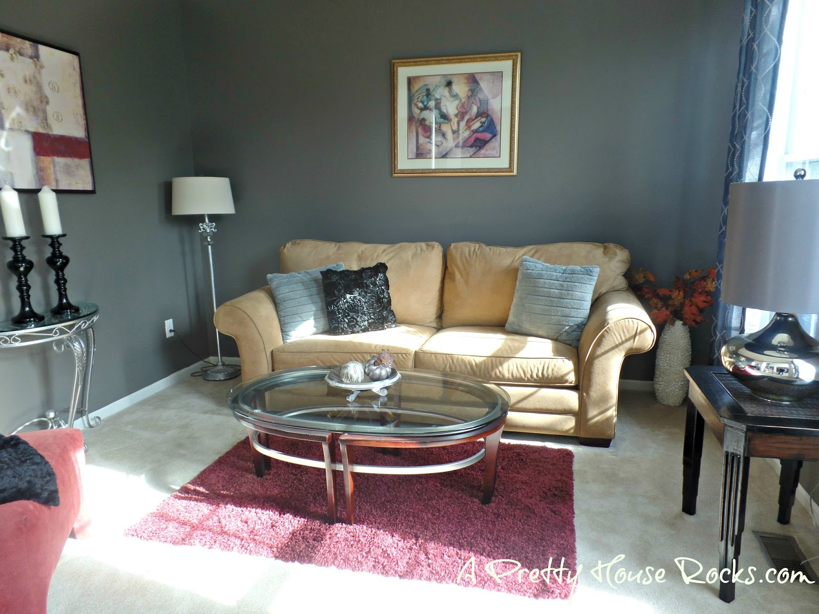 Updating a Living Room using the perfect Gray Paint - A Pretty ...