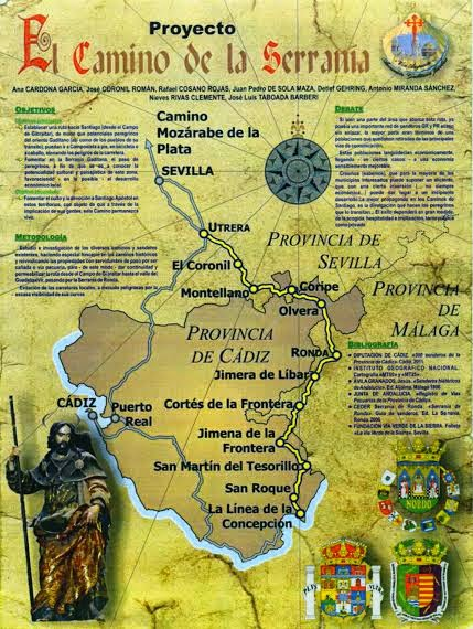 Camino to Santiago de Compostela Information and stories about the     Tomorrow I leave Santiago to go to Malaga and from there to La Linea de La  Concepcion to start walking  No matter how many thousands of miles I ve  tramped