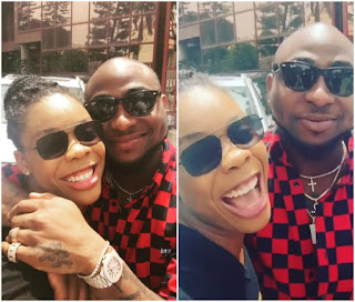 Kaffy and Davido ends beef,hug and smiles in new photo