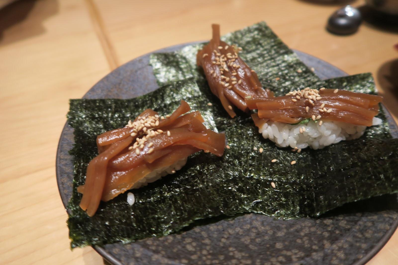 seaweed gourds sushi tokyo ten omakase japan