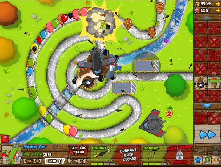 Black And Gold Games Bloons Tower Defense 5 Unblocked For U