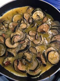 Frittata di Zuchini (Tortilla de calabacín), preparación 3
