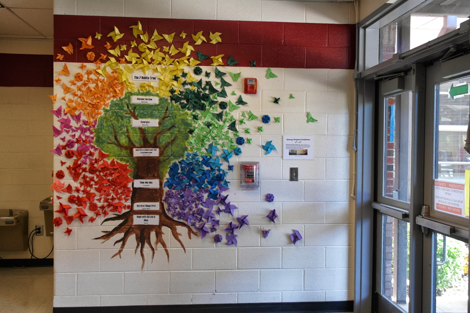 Mrs Kormos S Art Class Synergy Origami Installation